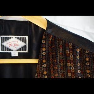 Men's Velour Vest with Back Detail